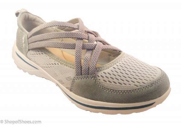 Ultra lightweight grey suede leather casual leisure shoe.